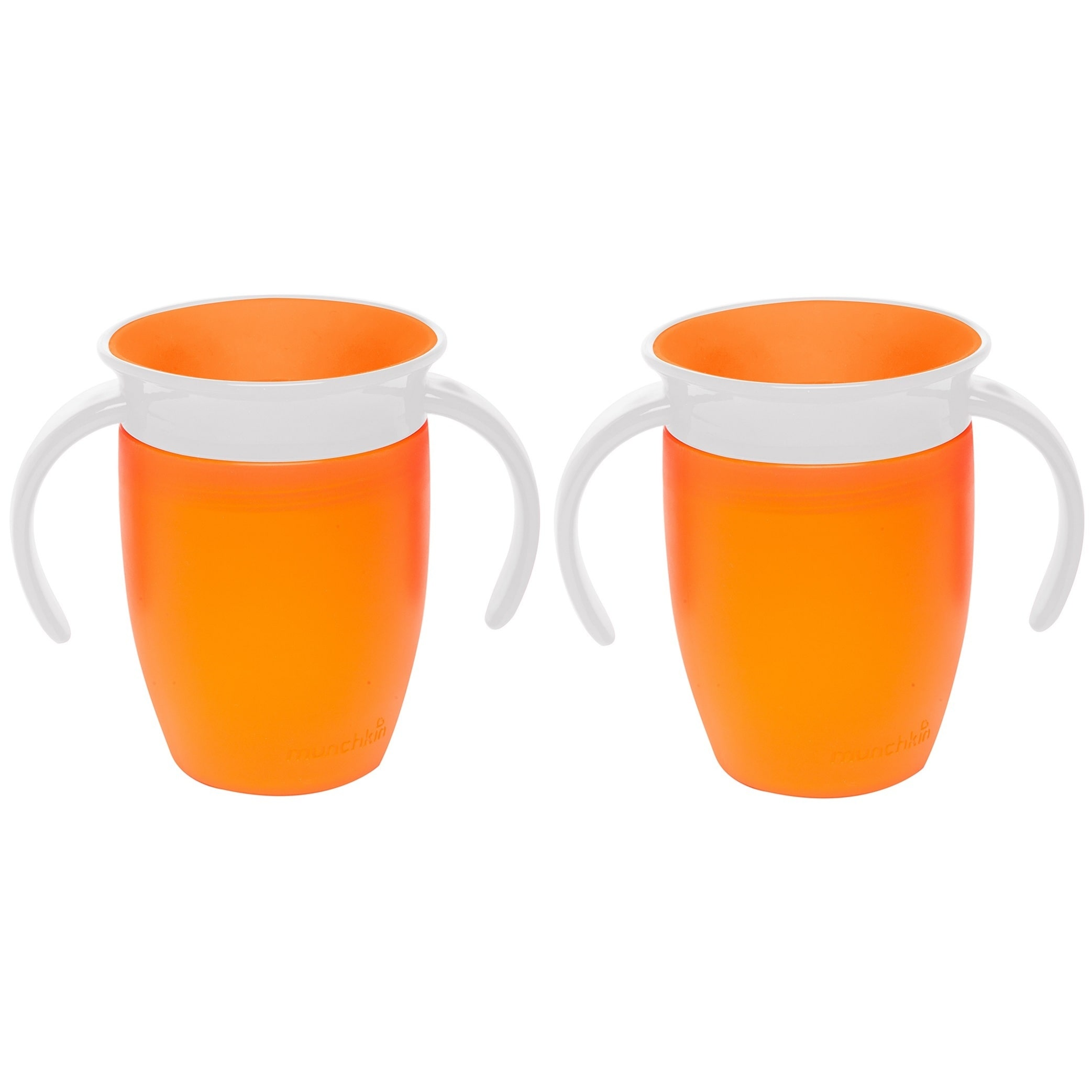 Munchkin Miracle 360 Trainer Cup 7 Ounce Orange 2 Count by Munchkin