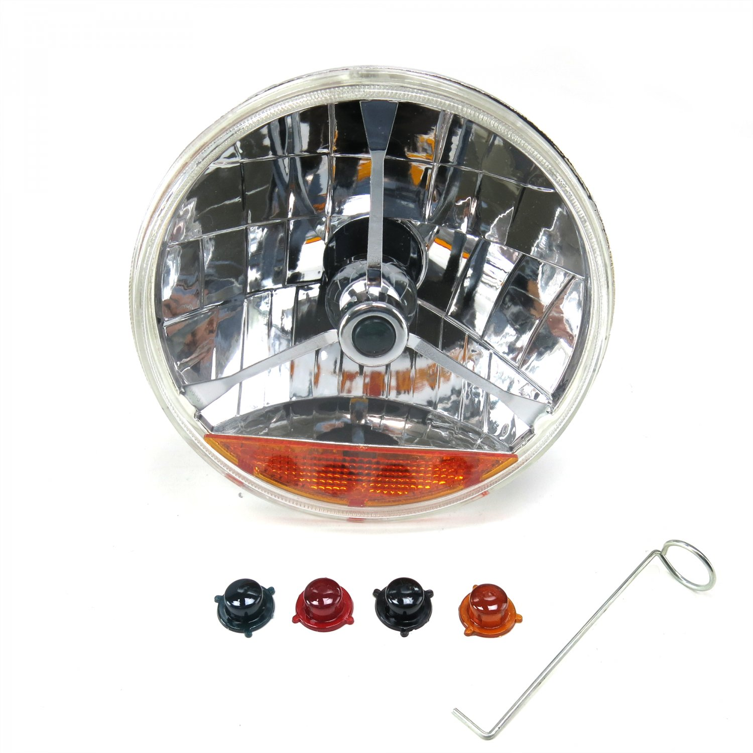 Autoloc ri-ar 7 nch alogen ens ssembly w/ 4 bulb and mber...