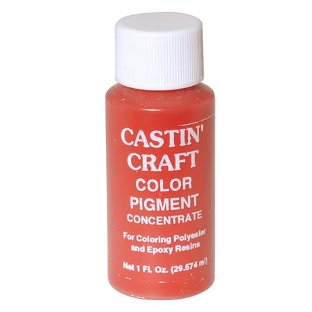 Castin craft casting epoxy resin opaque red pigment dye 1 for Castin craft clear resin