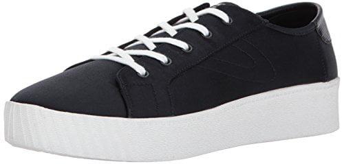 Tretorn Women's BLAIRE7 Sneaker, Black Satin, 12 M US by Tretorn