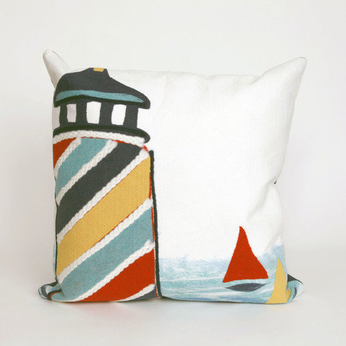 Liora Manne Visions II Lighthouse Throw Pillow