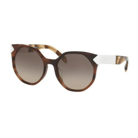 PRADA 0PR 11TSF STRIPED DARK BROWN Woman Sunglasses