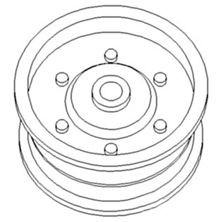 O3526CS New Pulley for Flat Belt w/ Bushing Made to fit Case-IH Tractor