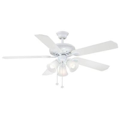 Hampton Bay Glendale 52 In. White Ceiling Fan - Walmart.com