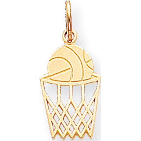 Male Basketball Player Charm (10k Yellow Gold BASKETBALL CHARM (10x22mm) Pendant / Charm )