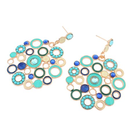 Retro Christmas Gift (Stylish Honeycomb Earrings Retro Bohemia Holiday Style Earbob for Street Snap Ornament Christmas Birthday)