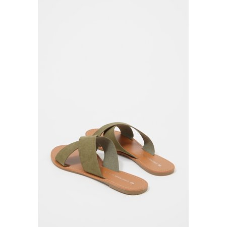 Urban Planet Women's Criss Cross Band Slide Sandal - image 2 of 3
