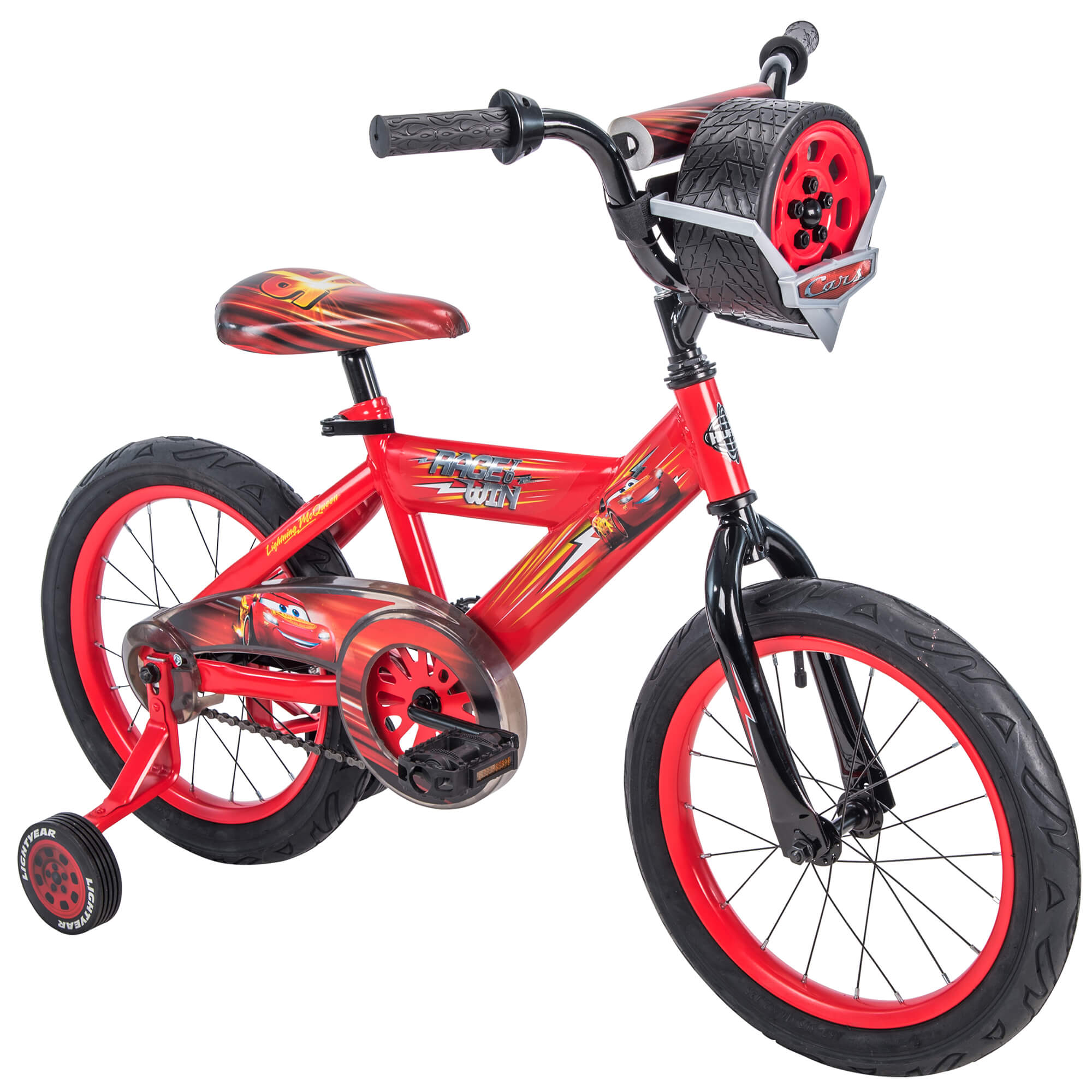 """Huffy 16"""" Disney   Pixar Cars Lightning McQueen EZ Build Kids Bike with Sounds, Red by Huffy"""