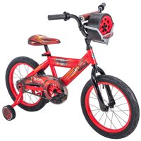 "Huffy 16"" Disney / Pixar Cars Lightning McQueen EZ Build Kids Bike with Sounds, Red"