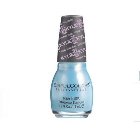 Trend Matters Angel Kylie Jenner Nail Polish Kurtain Kall  Aqua Gold   5 Fl Oz  Ready For Your Kloseup  Step Out In Style With This Aqua And Gold Shade  By Sinful Colors From Usa