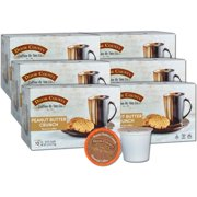 Door County Coffee Peanut Butter Crunch Flavored Specialty Single-Serve Coffee Pods, Medium Roast, 60 Count (6 Pack, 10 Count Boxes), Compatible with Keurig 2.0 K Cup Brewers