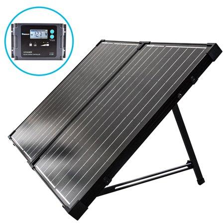 Renogy 100 Watt 12 Volt Monocrystalline Foldable Solar Suitcase w/ (Best 100 Watt Solar Kit)