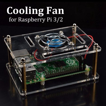 3 Pieces Transparent Acrylic Case with Cooling System External Fan for Better Heat Dissipating + Screw Driver Tool for Raspberry Pi 3 / 2 Model B and Raspberry Pi Model B + (B Plus