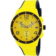 Swatch Men's Chrono Plastic SUSJ401 Yellow Silicone Quartz Dress Watch