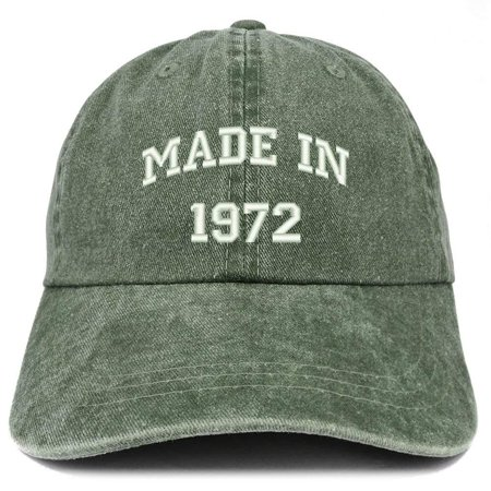 Trendy Apparel Shop Made In 1972 Text Embroidered 46th Birthday Washed Cap