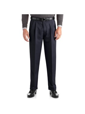 bc3a6a775765 Product Image Big Men's Pleated Cuffed Microfiber Dress Pant With  Adjustable Waistband