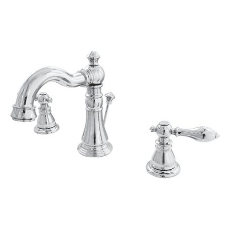 Kingston Brass American Classic Widespread Bathroom Faucet with Drain Assembly