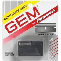 American Safety Razor Personna GEM Single Edge Super Stainless Steel Blades, 10 ea