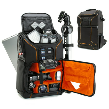 (Digital SLR Camera Backpack (Orange) with 15.6