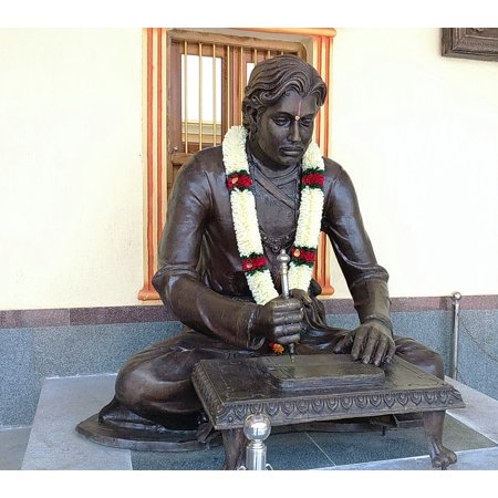 Canvas Print Kannada Poet Saint Literature Ancient Statue Stretched Canvas 10 x (List Of Kannada News Papers In Karnataka)