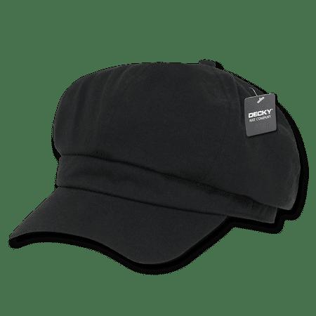 DECKY Applejack Newsboy Cabbie Driving Ivys Hat Hats Cap For Men Women Black - Black Cabbie Hat
