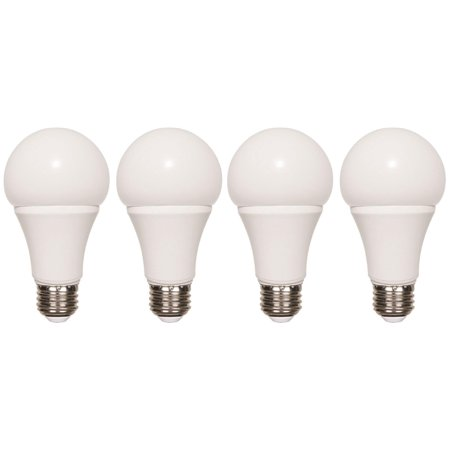 Non-dimmable Soft White LED Light Bulb 75W 11W A19 1100 Lumens 120V L7725 4 Pack