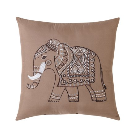Embroidered Elephant Decorative Pillow by Hamilton Hall