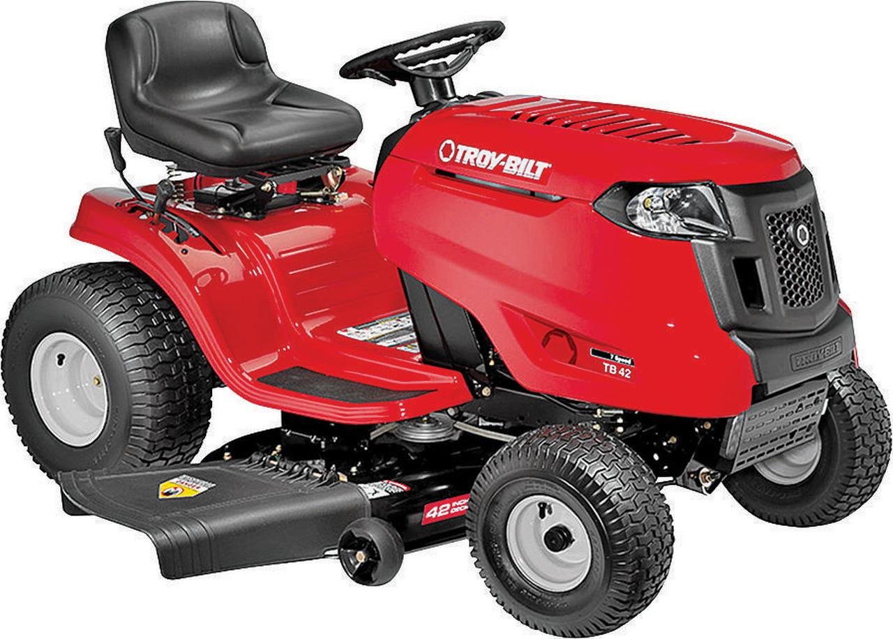 Troy-Bilt 13B277KS066 7-Speed Lawn Tractor, 42 in W, 420 cc OVH Engine by MTD PRODUCTS INC