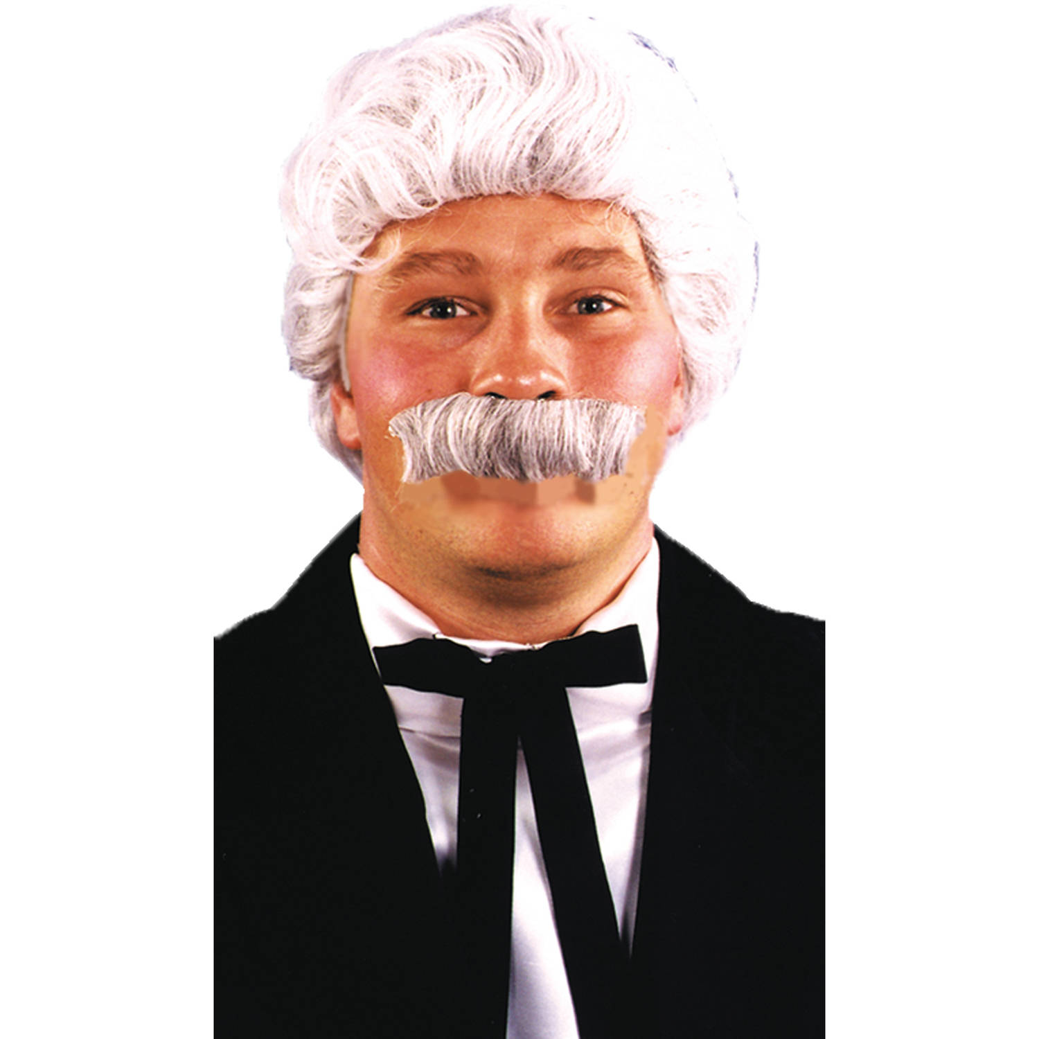 Mark Twain Wig and Mustache Adult Halloween Accessory