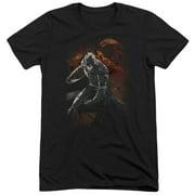 Dark Knight Rises Grungy Knight Mens Tri-Blend Short Sleeve Shirt