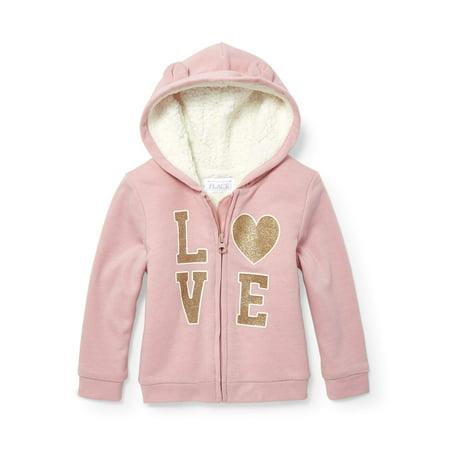 - The Children's Place Sherpa Lined Bear Ear Hoodie Sweatshirt (Toddler Girls)