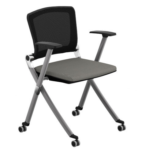 Compel Office Furniture Ziggy Mesh Nesting Chair with Arms