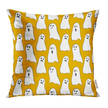 ARHOME Halloween Pattern with Cute Ghosts Perfect Flyers Greeting Congratulations and More Pillow Case Pillow Cover 16x16 inch Throw Pillow Covers