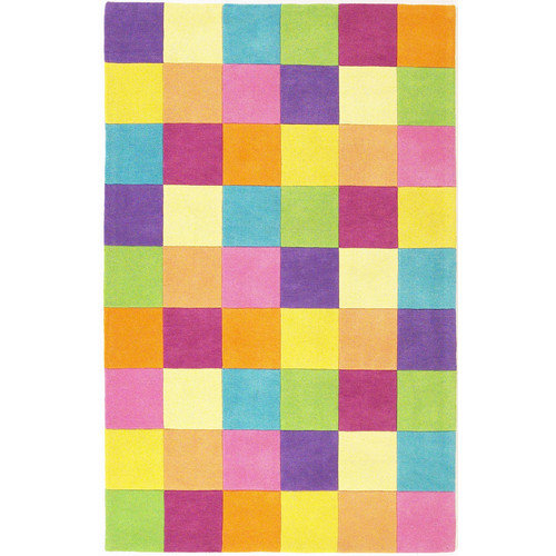 KAS Rugs Kidding Around Girls Blocks Area Rug