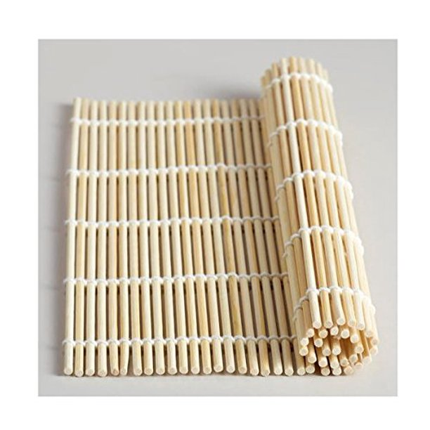 Bamboo Sushi Rolling Mat Reusable Wooden Roller Walmart Com Walmart Com