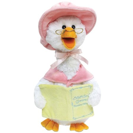 Plush Talking Mother Goose Plays 7 Nursery Rhymes - Pink, Animated Soft Plush Toy By Cuddle (Worlds Of Wonder Talking Mother Goose Repair)
