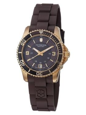 Women's 241615 'Maverick' Brown Dial Brown Rubber Strap Watch