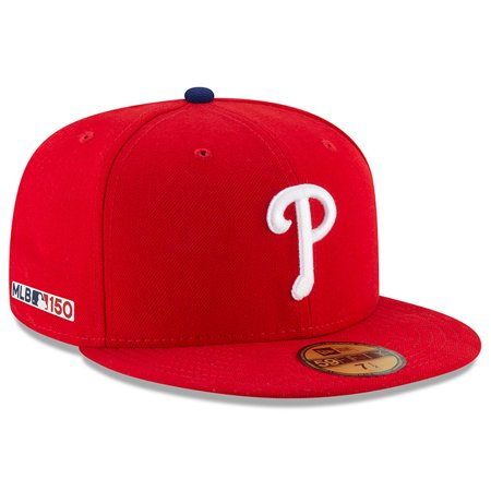 Philadelphia Phillies New Era MLB 150th Anniversary Authentic Collection 59FIFTY Fitted Hat - Red