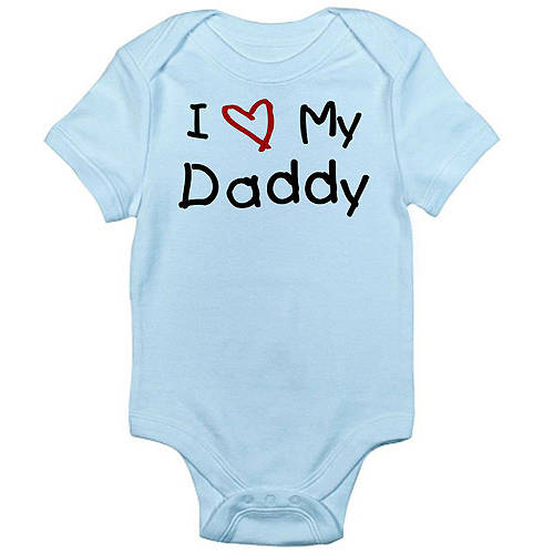 Cafepress Newborn Baby I Love Daddy Bodysuit