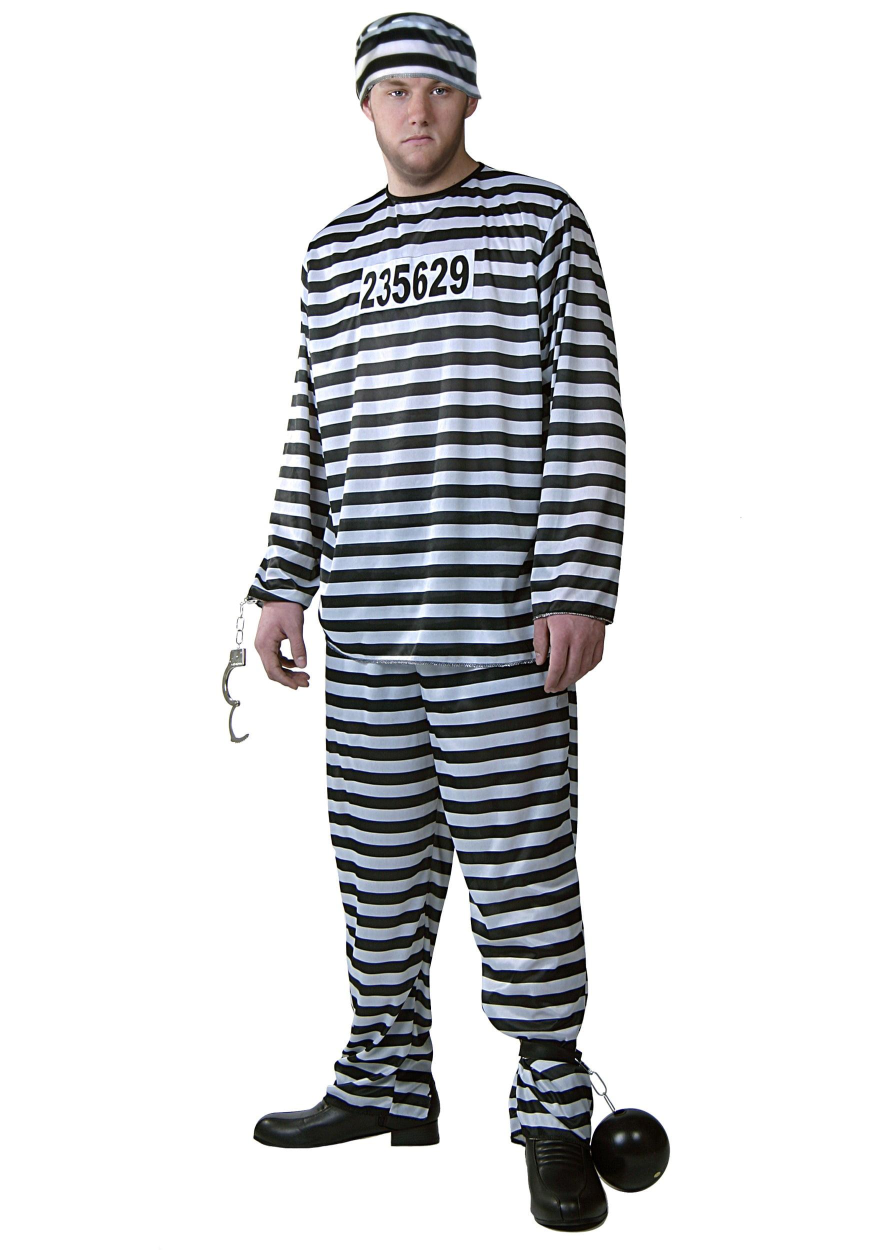 Mens Prisoner Costume Prison Jumpsuit Costumes Walmartcom