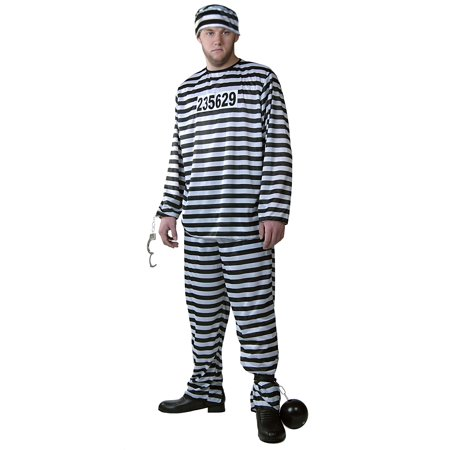 Mens Prisoner Costume - Prison Jumpsuit Costumes - Mens Prisoner Costume