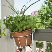"CobraCo 10"" White Adjustable Flower Pot Holder"