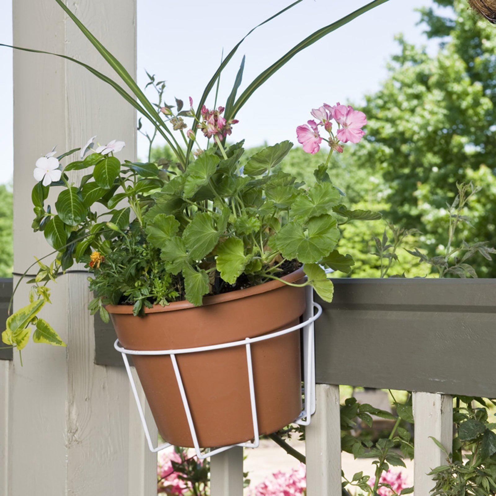 """CobraCo 10"""" White Adjustable Flower Pot Holder"""