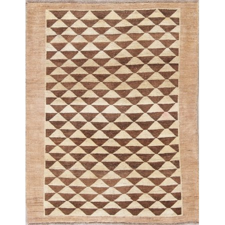 Rugsource Gabbeh Earth Tone Warm Hand Knotted Modern Area