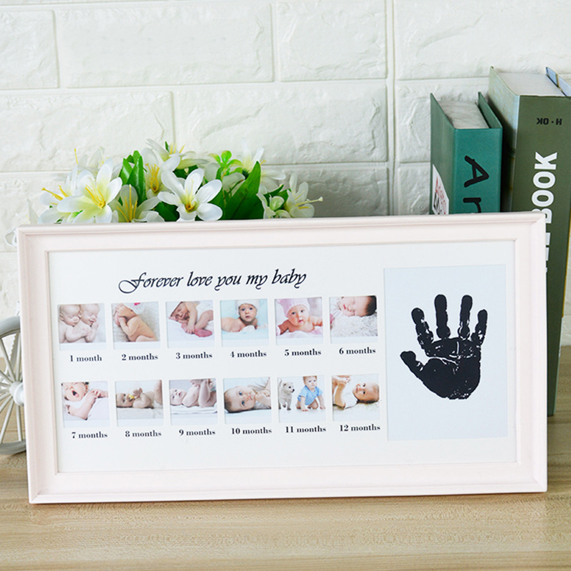 KARMAS PRODUCT First Year Baby Picture Frame 12 Photo Moments Photo ...