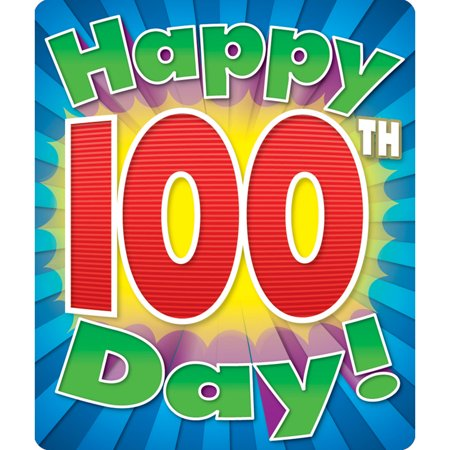 HAPPY 100TH DAY STICKERS (Happy Mothers Day Stickers)