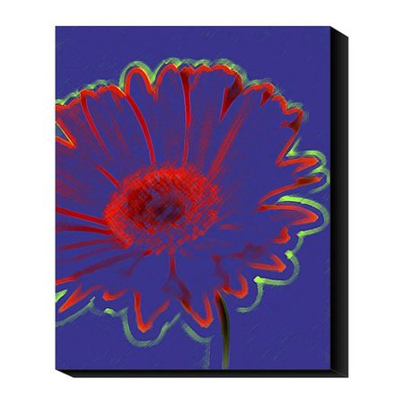 Global Gallery Crayon Fleur By Michael Banks Graphic Art Print On Canvas