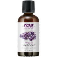 NOW Essential Oils, Lavender Oil, Soothing Aromatherapy Scent, Steam Distilled, 100% Pure, Vegan, Child Resistant Cap, 2-Ounce