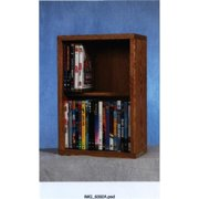Wood Shed 215-12 Solid Oak 2 Row Dowel DVD Cabinet Tower