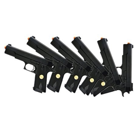 LOT OF 6 - DOUBLE EAGLE P169 1911 AIRSOFT HAND GUN FULL SIZE SPRING PISTOL W 6MM BBS
